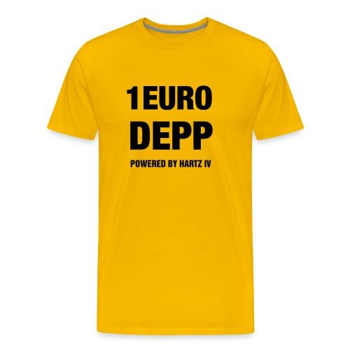 T-Shirt gelb mit Druck auf Vorderseite - Männer Premium T-Shirt