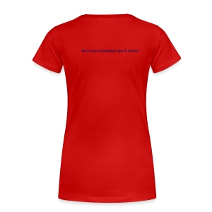 Dr Ropata Womens T-shirt - phrase on back - Women's Premium T-Shirt