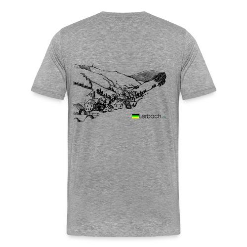 Lerbachtal hinten, Logo vorn; grau - Männer Premium T-Shirt