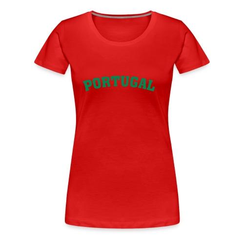 Kurzärmel T-Shirt Portugal - Frauen Premium T-Shirt