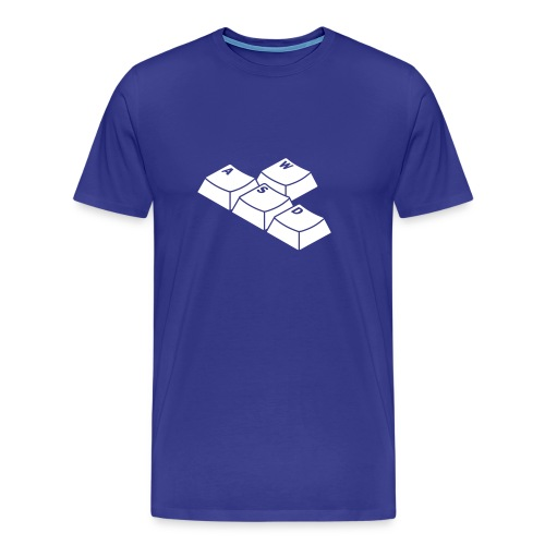 WASD [hellblau/weiß] - Männer Premium T-Shirt