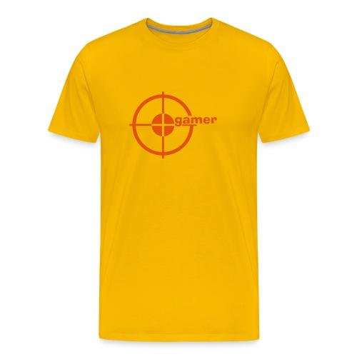 Target gamer [gelb/orange] - Männer Premium T-Shirt