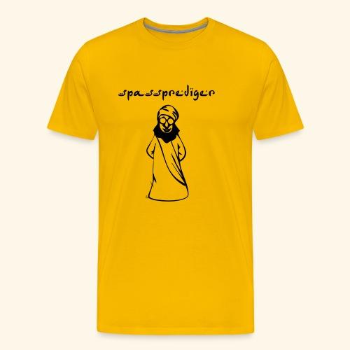 Spassprediger, schwarz-gelb - Männer Premium T-Shirt