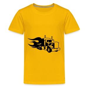 Kids Truck T-shirt - Teenage Premium T-Shirt