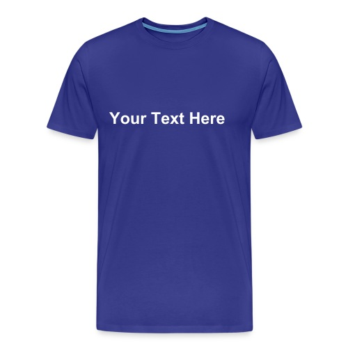 Custom T-shirt (Blue) - Men's Premium T-Shirt