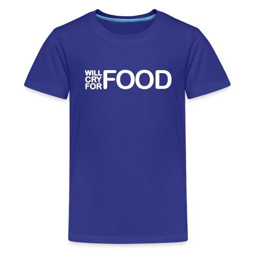 T-shirt enfant cry for food - T-shirt Premium Ado