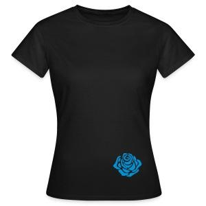 mala niebieska róża - Koszulka damska