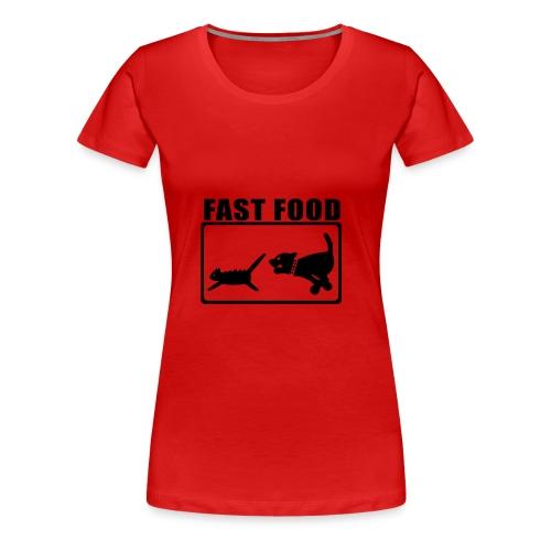 Fast food - Premium T-skjorte for kvinner