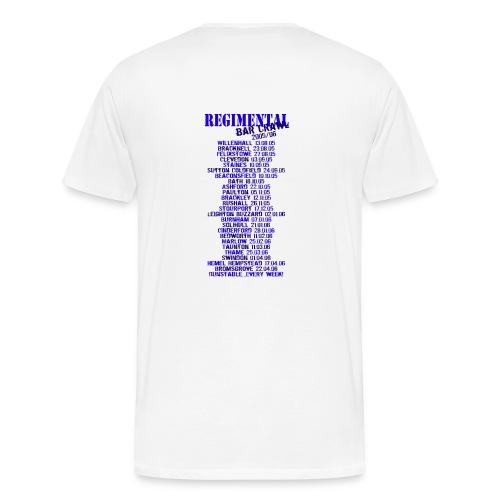 Regimental Bar Crawl T-Shirt - Men's Premium T-Shirt