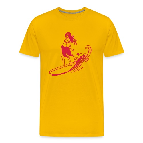 Surfing Girl - Männer Premium T-Shirt