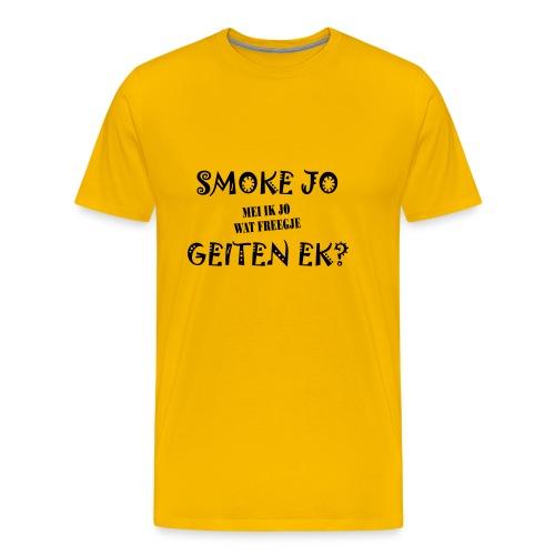 Fries Shirt Smoke Geel - Mannen Premium T-shirt