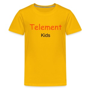 Telement Kids T-Shirt (Yellow) - Teenage Premium T-Shirt