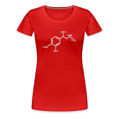 ADRENALIINI GIRLIE punainen/valkoinen - Naisten premium t-paita