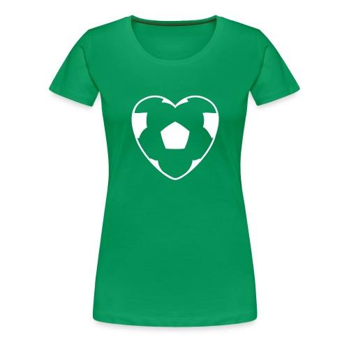 SoccerHeart - Women's Premium T-Shirt