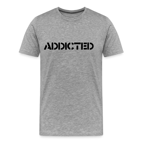 Grå Addicted t-shirt - Premium-T-shirt herr