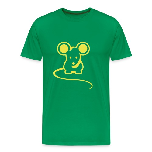 Hiiri green tee - Miesten premium t-paita