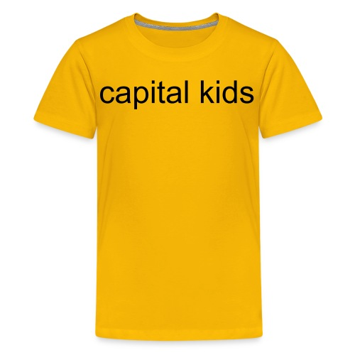 Capital Kids Yellow T-shirt. - Teenage Premium T-Shirt