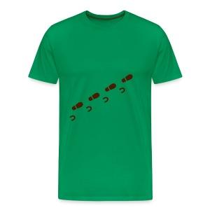 Schritte, grün - Männer Premium T-Shirt