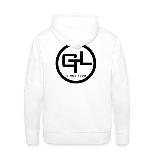 Männer Premium Hoodie - Nur Logo hinten