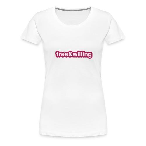Free&Willing TShirt - Women's Premium T-Shirt