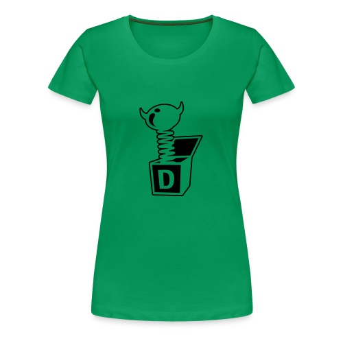 Classic Girlie Devil in the Box - Frauen Premium T-Shirt