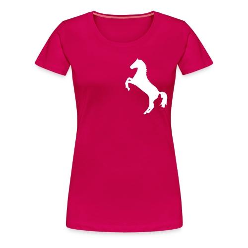 Hoefslag leden T-shirt dubbel bedrukt - Vrouwen Premium T-shirt