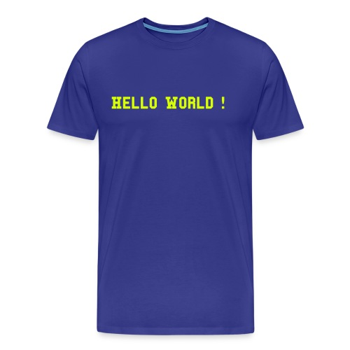 Comfort-T Hello World ! - T-shirt Premium Homme