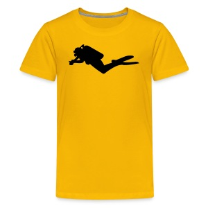 diver - kindershirt - Teenager Premium T-Shirt