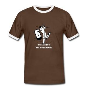 Jason Roy Six Offender (Trim) - Men's Ringer Shirt