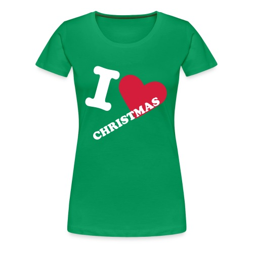 I Love Christmas - Dame premium T-shirt
