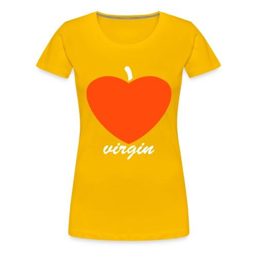 I Love Virgin geel Rocket in my Pocket (girls) - Vrouwen Premium T-shirt