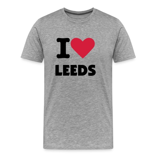 i heart leeds - Men's Premium T-Shirt