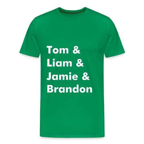 Band Name T-Shirt (Light Green) - Men's Premium T-Shirt