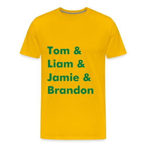 Band Name T-Shirt (Yellow) - Men's Premium T-Shirt