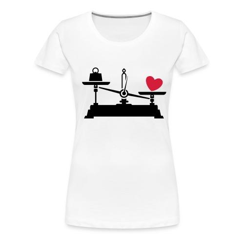 Heart White - T-shirt Premium Femme