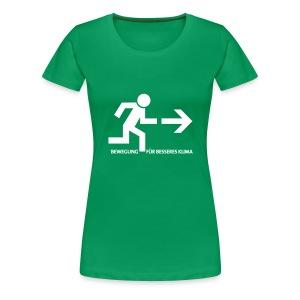 Bewegung für besseres Klima - Frauen Premium T-Shirt