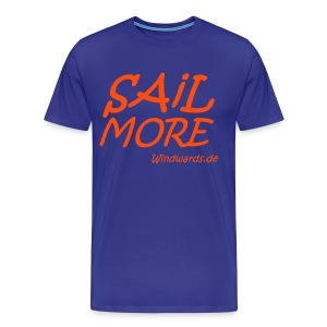 Sail More Work Less t Shirt fuer Maenner - Männer Premium T-Shirt