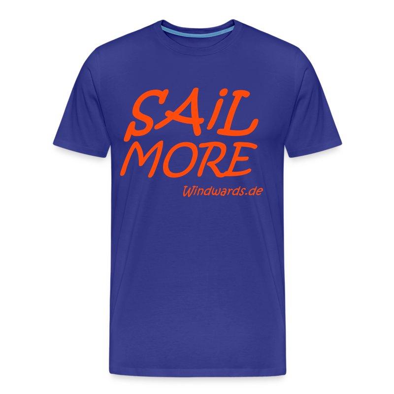 Sail More Work Less t Shirt fuer Maenner - Männer Premium T-Shirt