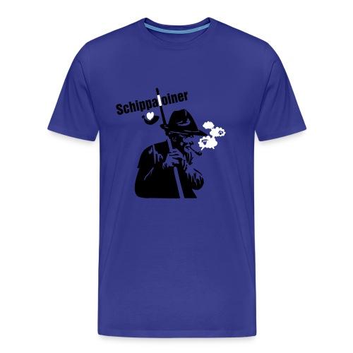 Schippaloiner weit, blau - Männer Premium T-Shirt