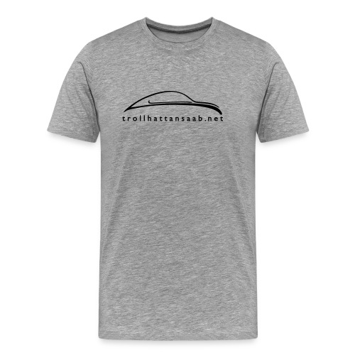 TS White UrSaab tee - Men's Premium T-Shirt