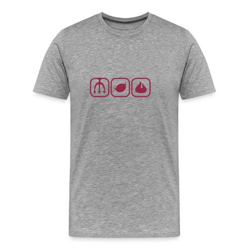 T-Shirt Cenere Devil - Maglietta Premium da uomo