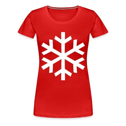 Schneeflocke - Frauen Premium T-Shirt