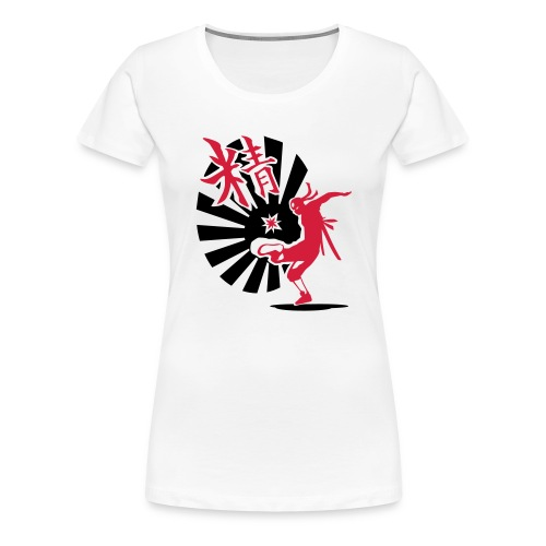 Fukaduk Chinese Girlie - Vrouwen Premium T-shirt