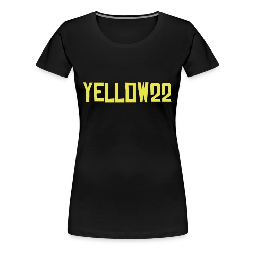 Yellow22 Girly - Frauen Premium T-Shirt