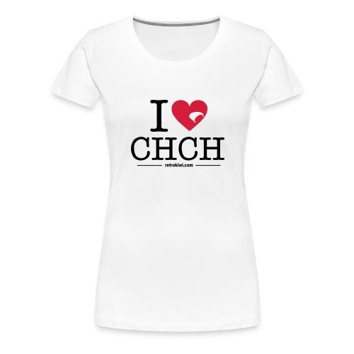 I Love Christchurch - Women's Premium T-Shirt