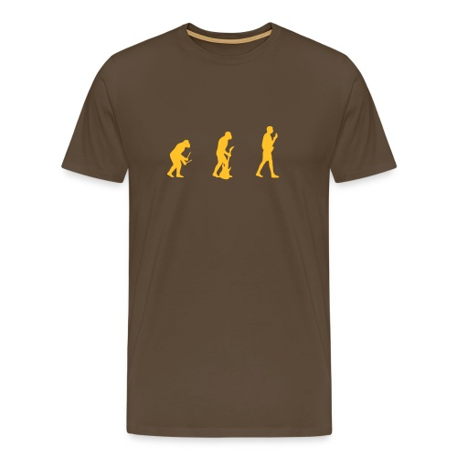 Guitarist Evolution (Marron/Orange) - T-shirt Premium Homme