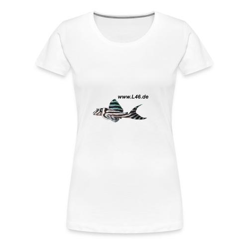 Girly-T Weiß Logo vorne, groß, mittig - Frauen Premium T-Shirt