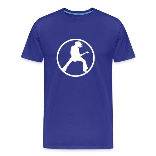 Guitarist Solo (Bleu/Blanc) - T-shirt Premium Homme
