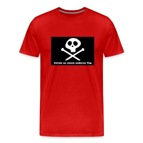 Strick an einem anderen Tag - Männer Premium T-Shirt