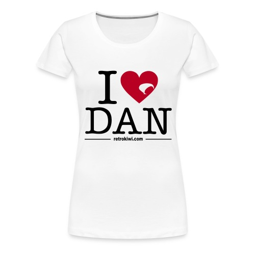 I Love Dan T-shirt - Women's Premium T-Shirt